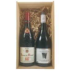 French Red and White Double Wooden Gift Pack