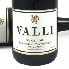 Valli Waitaki Vineyard Central Otago Pinot Noir 2017