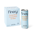 Finery Grapefruit, Cucumber & Mint Vodka Soda 250ml cans 4-Pack